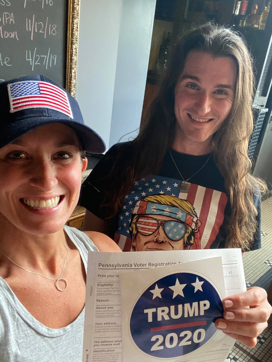 Just registered a new voter! +1 for @realDonaldTrump in Pennsylvania #WomenForTrump