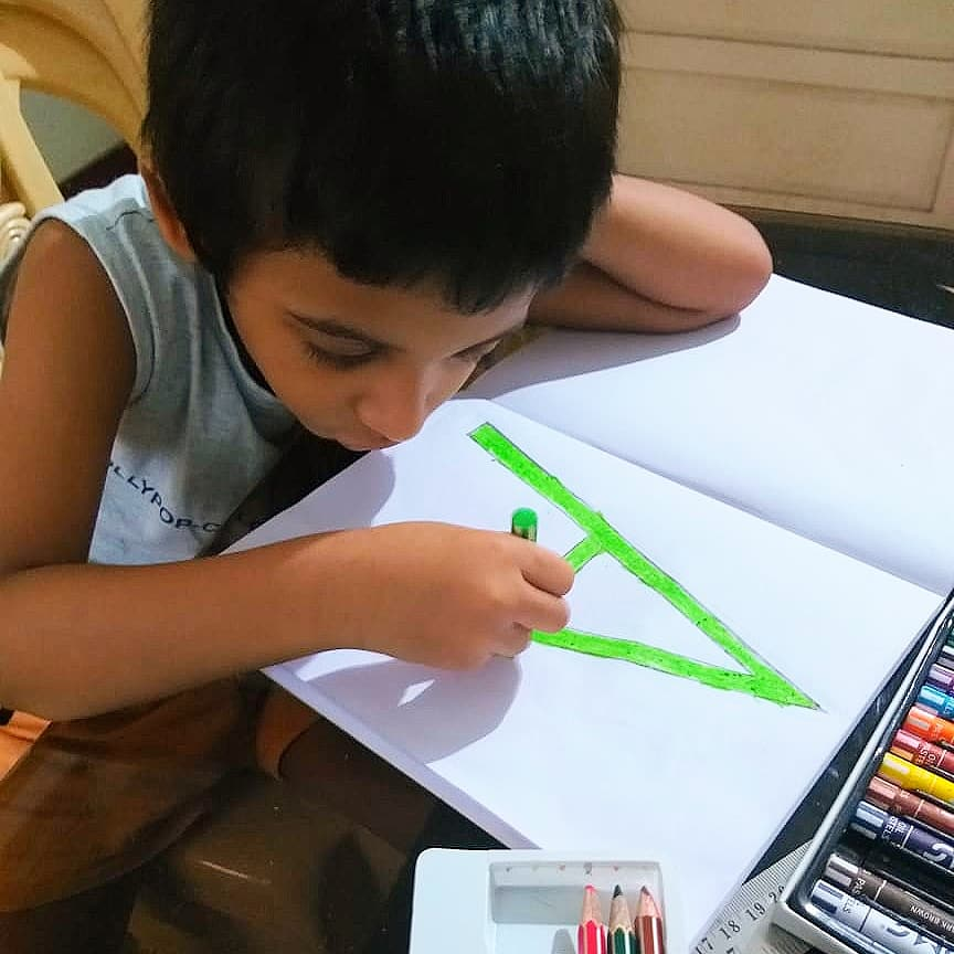 Practicing their Alphabet Formation through various activities & on different mediums.  This helps develop Strong Language Foundations. #SchoolAtHome #StayAtHomeLearning #LanguageSkills #AlphabetFormation #WritingSkills #EYFS #StrongFoundations #ChildCentricEducation https://t.co/i5ldD15n0m