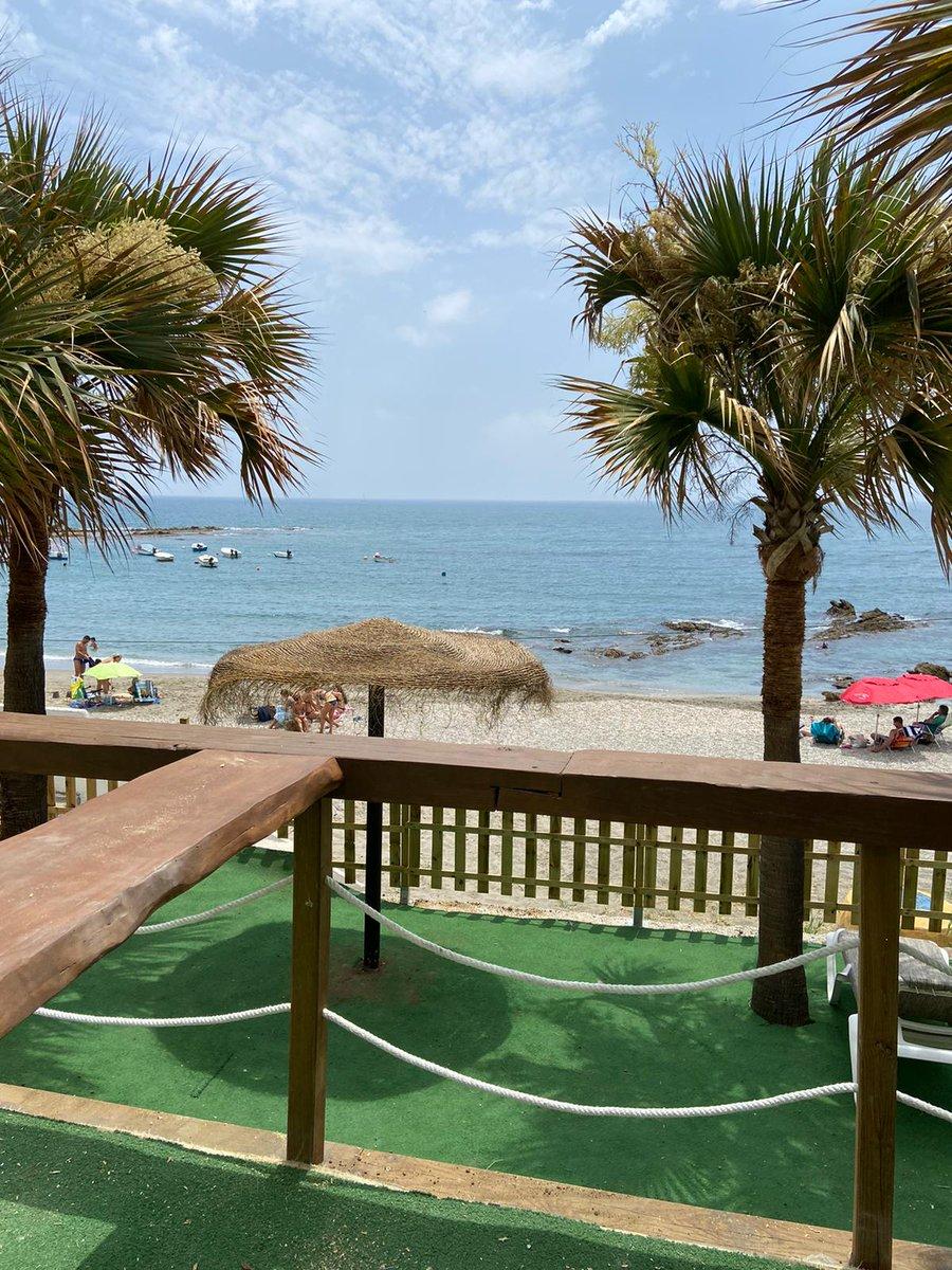 La Calita ya es una realidad en Hotel Patricia de #Torreguadiaro.😍  #Cervezas @estrellagalicia y buen marisco 🦐 incluso por #tapas 🤤