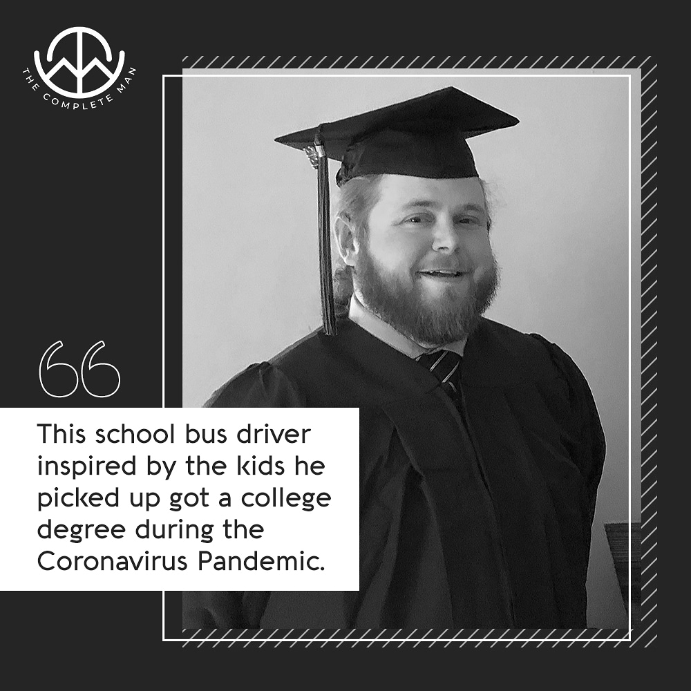 This school bus driver, inspired by the kids he picked up got a college degree during the Coronavirus pandemic.  Via @CBSNews • • • • • #massachusetts #tennessee #nashville #goodmen #men #love #instaboy #goodday #instagood  #good #goodman  #goodmenexist #boston #betheman