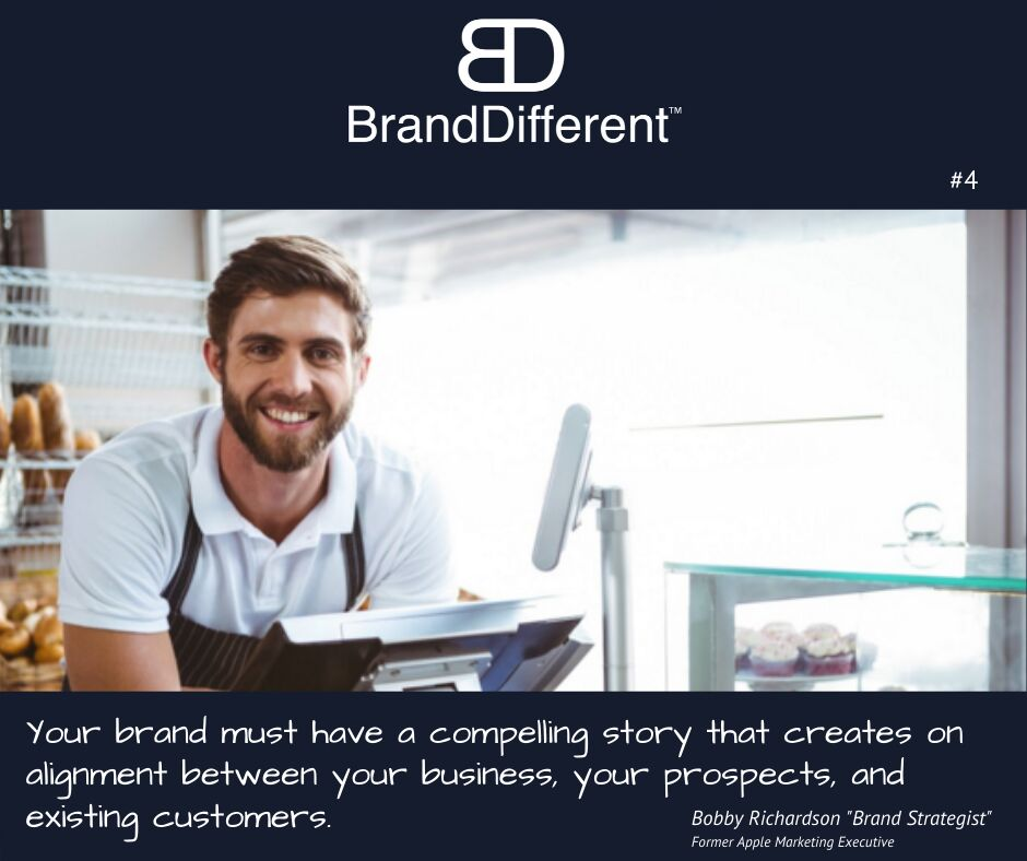 """An incredible compelling story is how you explain your """"WHY"""" to your customers... #branding #entrepreneurs #smallbusinessowners #restaurants #hospitality #cafe #coffee #marketing #MarketExcellence #BrandExcellence"""