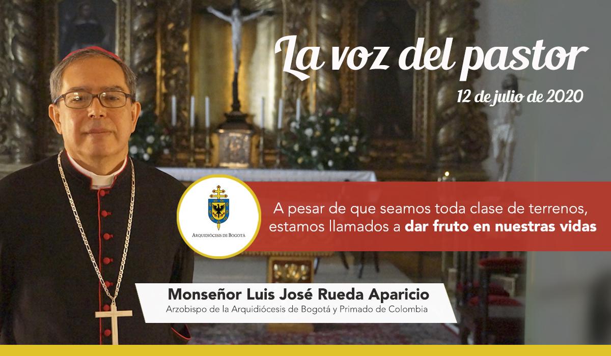 La voz del Pastor   12 de julio de 2020 #Reflexión de monseñor Luis José Rueda Aparicio, arzobispo de #Bogotá y primado de #Colombia   Evangelio según San Mateo 13,1-23  . https://t.co/DKoscmfDfH #EvangeliodelDía #OremosJuntos #OremosPorColombia #FelizDomingo https://t.co/sOSCFEENqZ
