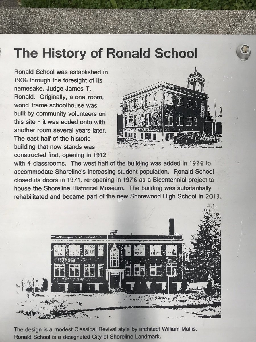 I drove my car in for service last week. I go to the dealer in Shoreline. They are dog friendly, so I brought Dug. We killed some time on a walk. First, we passed Shorewood High School, empty right now, but with a great sign out front so we could enjoy some history. 1/7 pic.twitter.com/MG8RARQ47Q