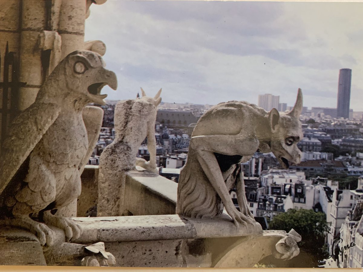 old postcard i ran across — norte dame before the chicken wire (and fire obv)
