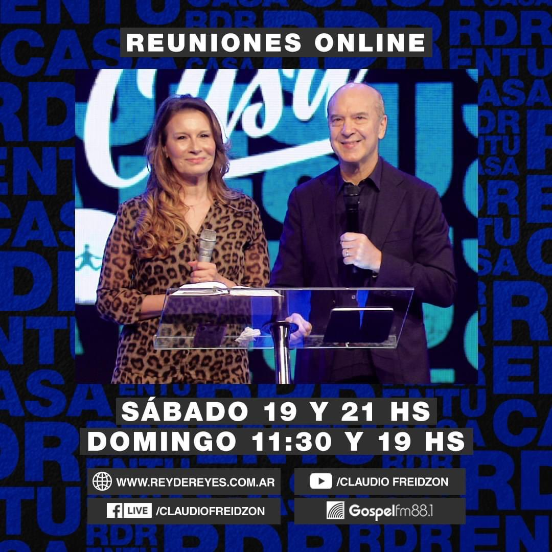 Este fin de semana conectate a nuestras reuniones online. ¡Tiempo de fortalecernos con la Palabra de Dios y la Presencia del Espíritu Santo!  ⌚Hoy 19 y 21 hs (jóvenes) ⌚Domingo: 11:30 y 19 hs 👉https://t.co/eKDiZ8bzs9 👉https://t.co/rRTs66v36o Claudio Freidzon https://t.co/V5F7hNnt58