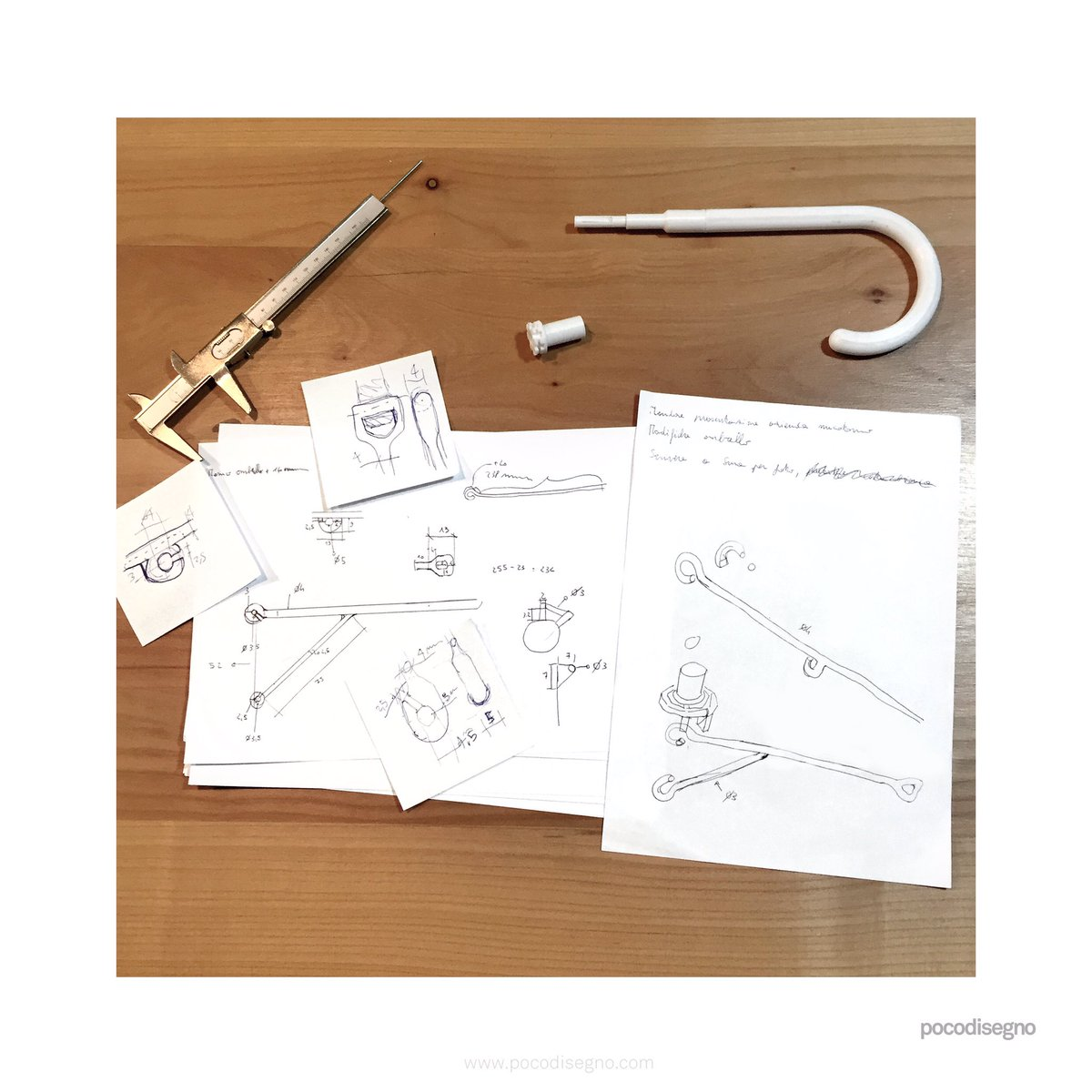 The immediacy of the drawings that are made to clear the ideas: they are not beautiful, but useful to understand the way to go. #design #industrialdesign #productdesign #sketching #3dprinting