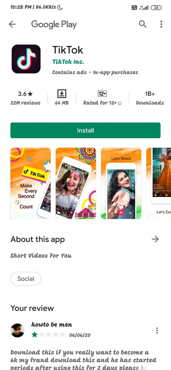 #Bantiktokindia #BanTikTokInIndia  #BanTikTok   Tiktok is back on playstore  Linck-https://t.co/mC8XhEdrKv https://t.co/Pd8GkhnNIL