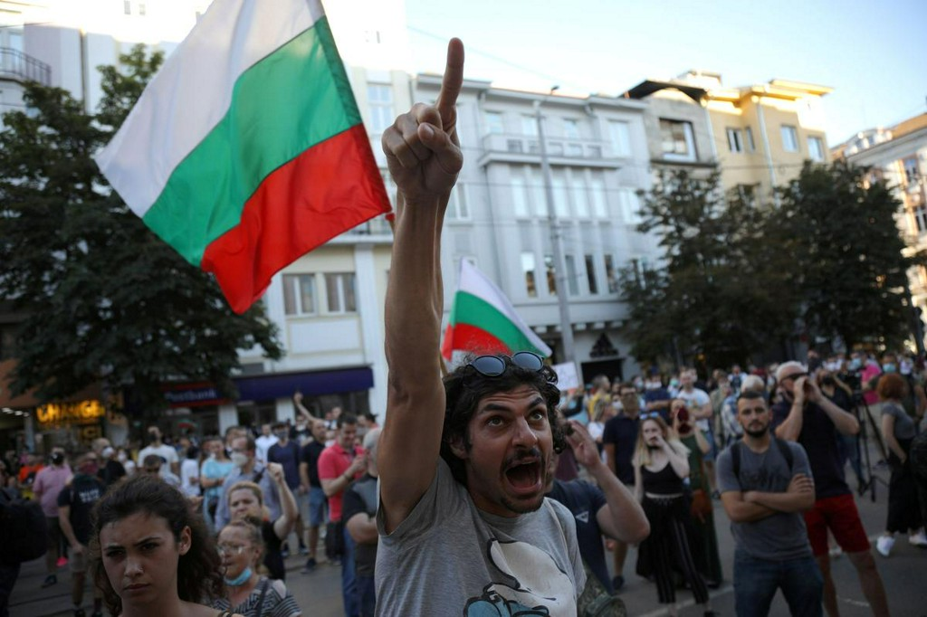 Bulgarian police arrest 18 people during anti-graft protests https://t.co/sjh54TQGRZ https://t.co/Z5Y7QZCQoM