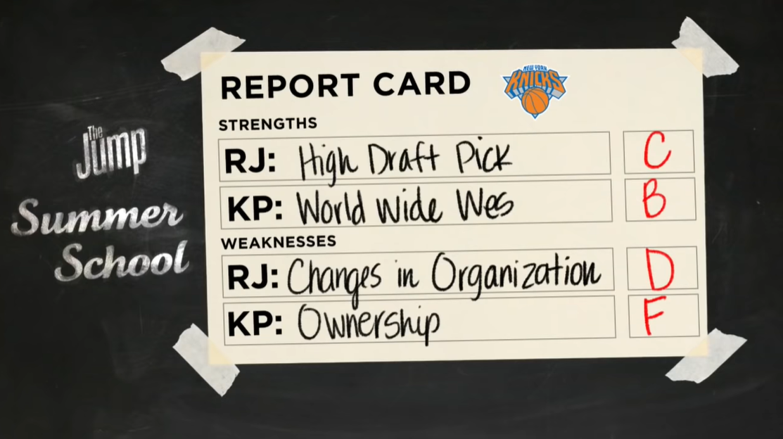 .@WorldWideWob Richard and Perk gave out these grades for the Knicks heading into the offseason. You agree?  #WholeNewGame #NBATogether #NBATwitter #TheJump #JumpFromHome #NewYorkForever https://t.co/FKjkB8uq0k