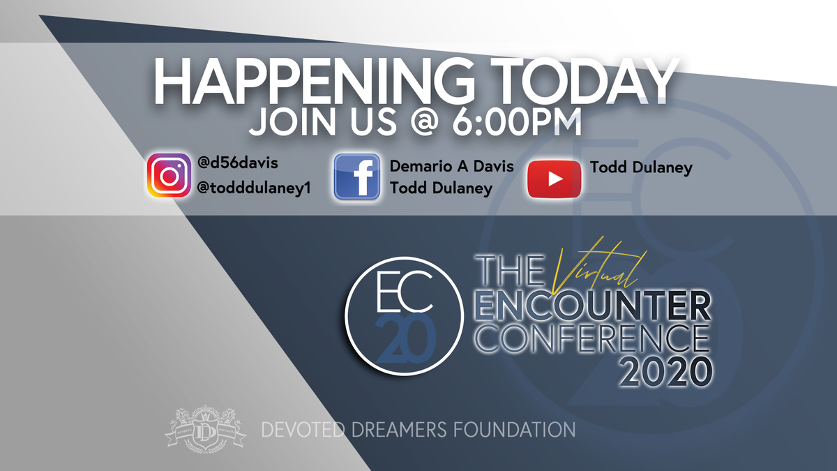 The big day is finally here You can stream the 2020 Encounter Conference live from the following pages below. - @demario__davis (bit.ly/2CpCZ6E) - @ToddDulaney - @AthletesCorner_ - The Redirection Church (bit.ly/3eipkeL)