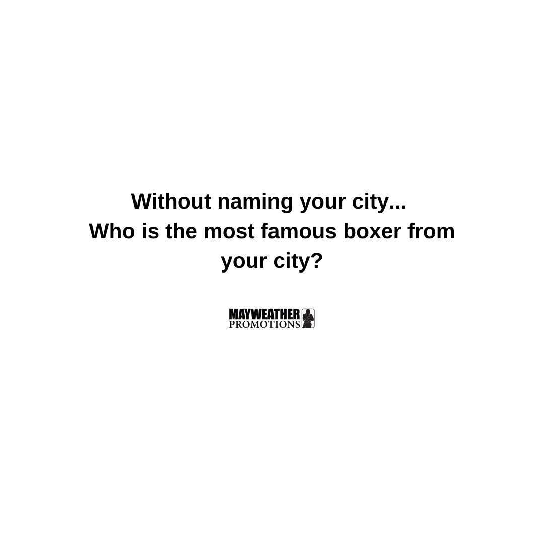 test Twitter Media - Without naming your city, who  is the most famous boxer from your city? https://t.co/TsuxrO69qn