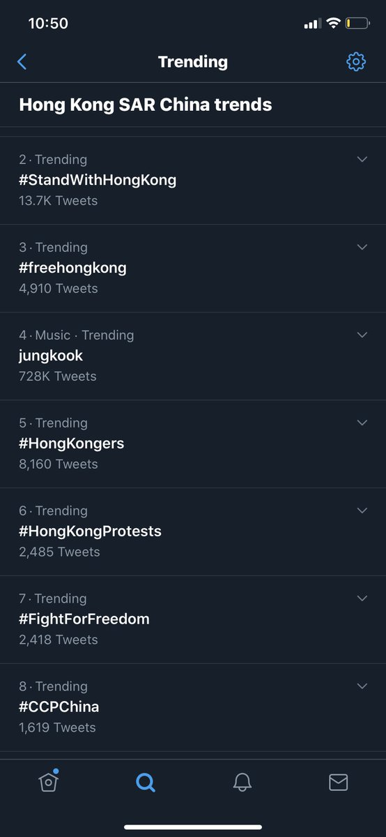 Going through twitter trends in #hongkong... it is sad that #China will mostly get its way and the world will remain silent like during #Tibet #HongKongers #HongKongSecurityLaw #FreeHongKong https://t.co/3qftDOZCUG