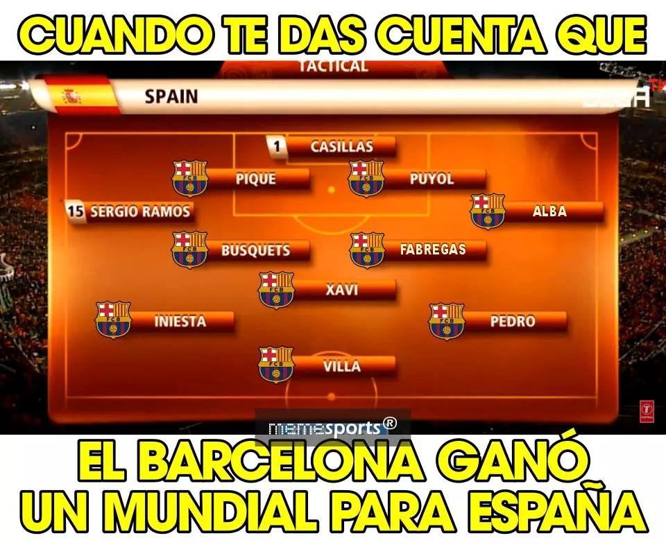 Un día como hoy (2010) el Barcelona le daba un Mundial a España. https://t.co/boIbC1bKyl