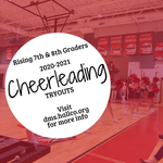 Image for the Tweet beginning: UPDATED CHEER TRYOUT DATES!
