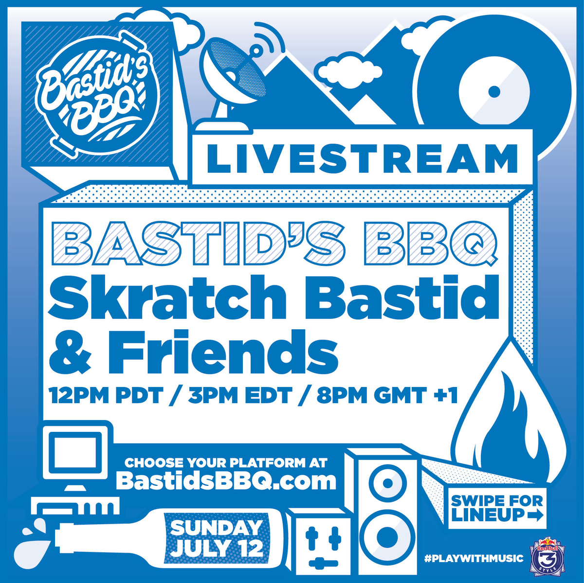 YO GUYS - TOMORROW IS BASTID'S BBQ AND IT'S GONNA BE LIT! All the homies from all across North America gonna be playing all day!  It all starts at 3PM so check https://t.co/XTq8UfBclg for all the goods! https://t.co/dcdDnZDW2G