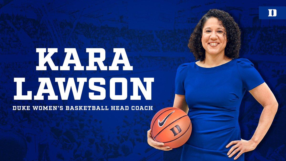 OFFICIAL. Welcome to Duke, Kara Lawson!