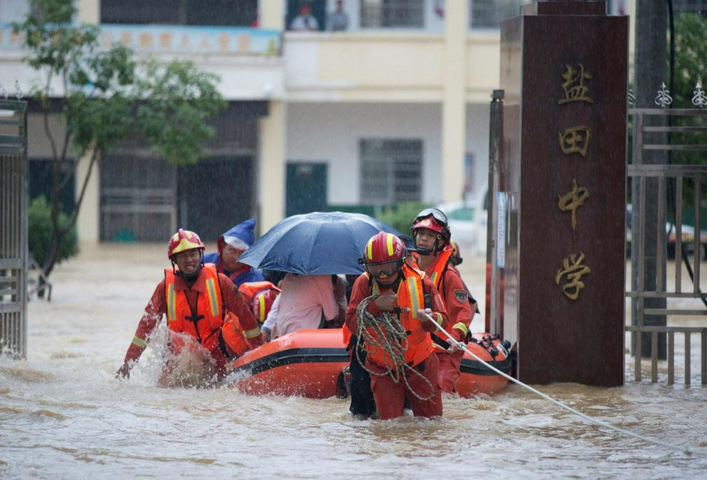 China's southern Jiangxi province declares highest flood alert https://t.co/CbmwT1MvkN https://t.co/3wKa3uS3oT
