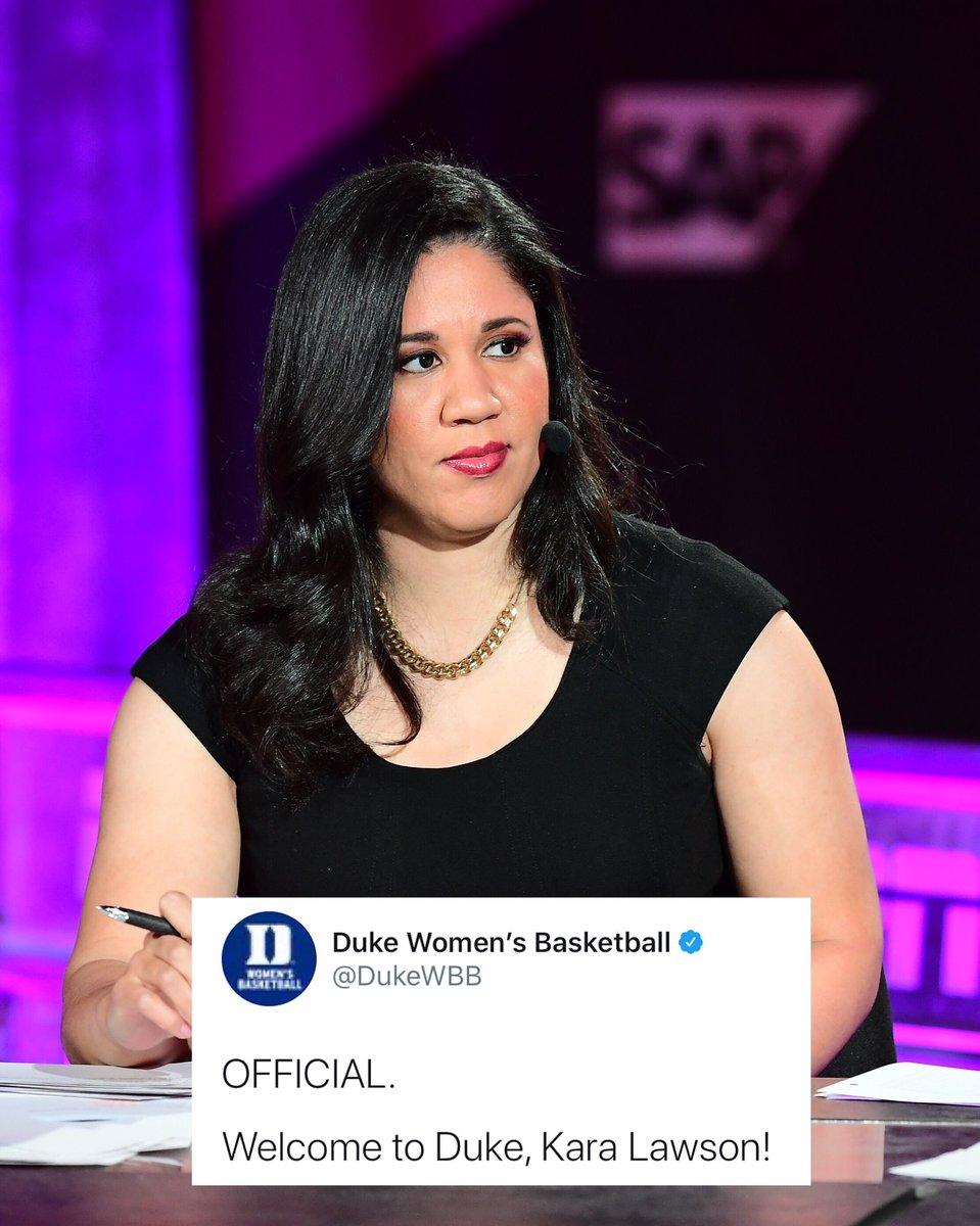 Congrats to the new Duke head coach, Kara Lawson! 🙏🏽 @karalawson20 @DukeWBB