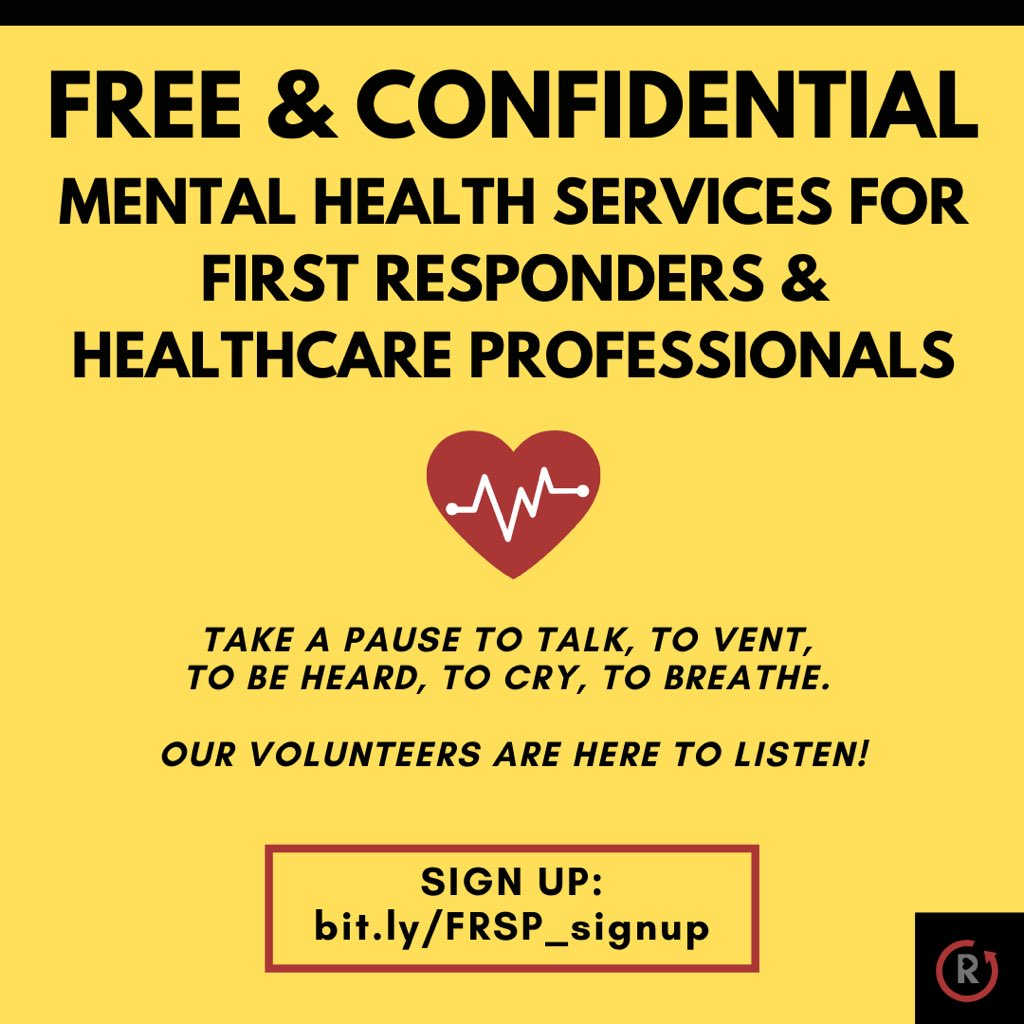 @choo_ek I participate as a volunteer with a group of mental health professionals doing free listening listening sessions for stressed out front line health care workers and first responders. Agree that I wish it wasn't so stigmatized still. https://t.co/dieWe7C821 https://t.co/OBJKyweYGL