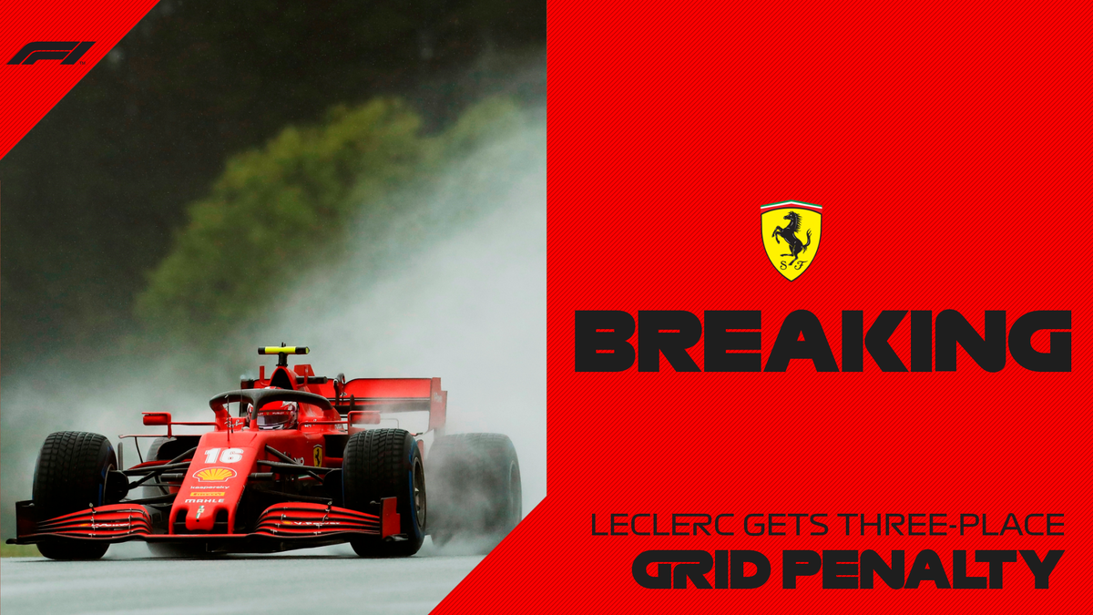 BREAKING: Charles Leclerc will start from P14 at Sunday's Styrian Grand Prix after receiving a three-place grid penalty  The stewards ruled that he blocked Dany Kvyat during an incident in qualifying   #AustrianGP 🇦🇹 #F1 https://t.co/jenxnbLmIT