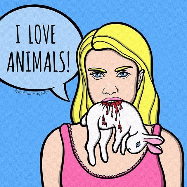 I love animals.