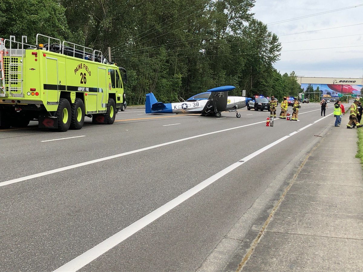 Updated with photo: Road closures on Airport Rd between 94th and Cash, plan alternate routes. Small aircraft down on Airport Rd. No injuries reported. https://t.co/NuPAsBs7ai