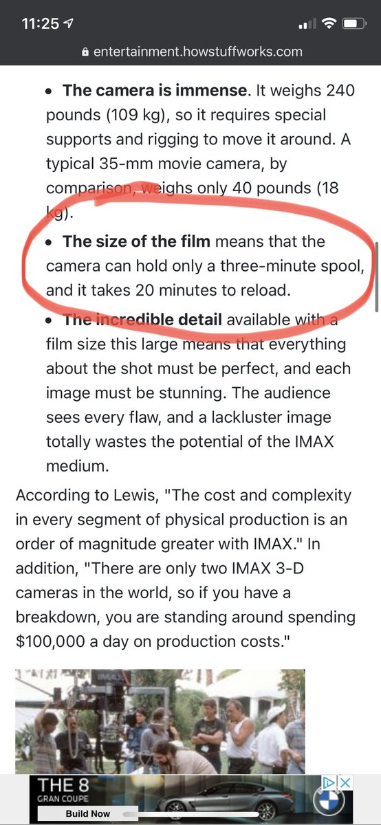 To give you give you guys some perspective. An iMax camera can record in 12K but can only do it for 3 minutes and it takes 20 minutes to reload the spool.  How can they possibly use this in a PRO Environment. It's about using the right tool for the job!  </end rant> <br>http://pic.twitter.com/ddR9AtUe8t