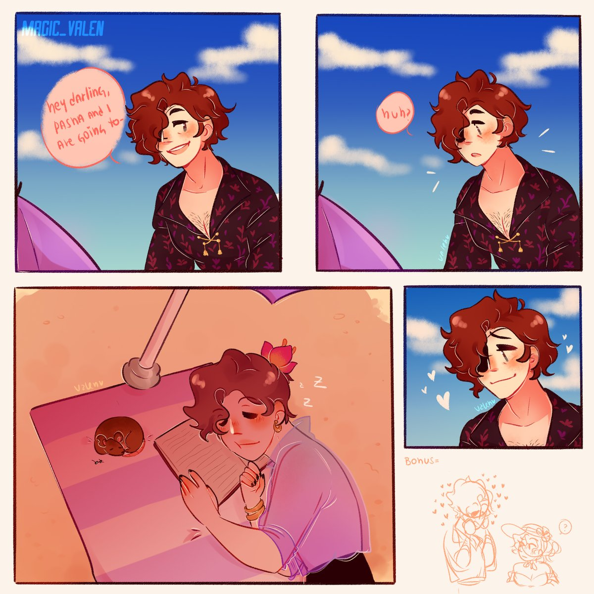 "You thought I was over with the baewatch tale content? No, not at all   (This is the first ""comic"" i made in my existence, so spare my life-)  #thearcana #thearcanagame #juliandevorak @TheArtistHelp @ApoyaAlArtista @ConoceArtistas @dibujandopic.twitter.com/yrMUCykdmL"