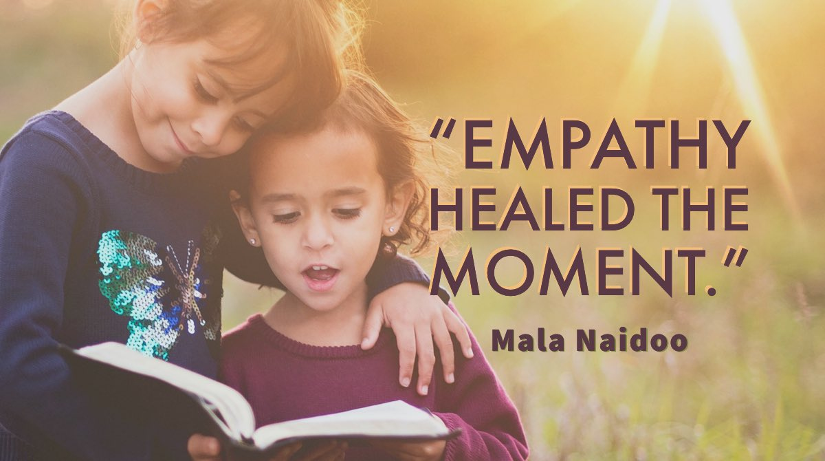 """""""#Empathy healed the moment.""""—Mala Naidoo  #coronavirus #quote #quotes #ThinkBIGSundayWithMarsha   . . @ilovequotebooks  @JETAR9  @peac4love  @W_Angels_Wings  @BookChat_  @lorimcneeartist  @LeadersBest  @SuzanneLepage1  @LEAD_Coalition  @RaulWever https://t.co/cYTr1b9P7V"""