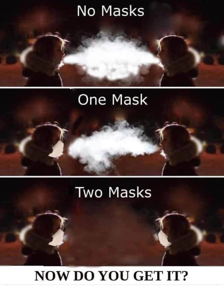 I am pretty sure most of you will have seen the picture, but this illustrates very well why wearing a mask is a good thing https://t.co/Hj2Mf5qJ3h