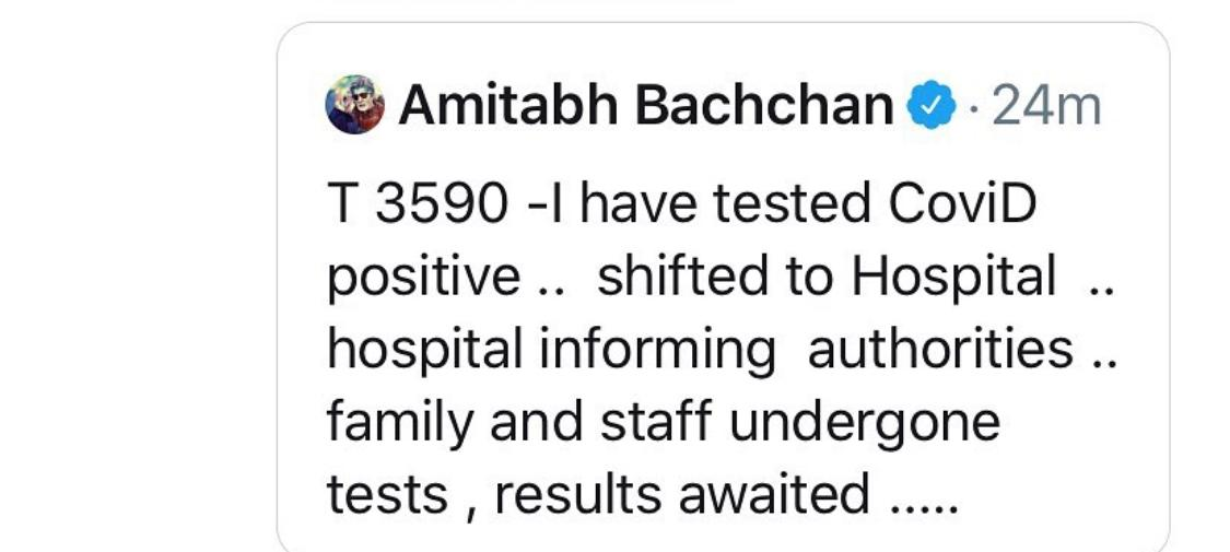 Get well soon @SrBachchan 🙏