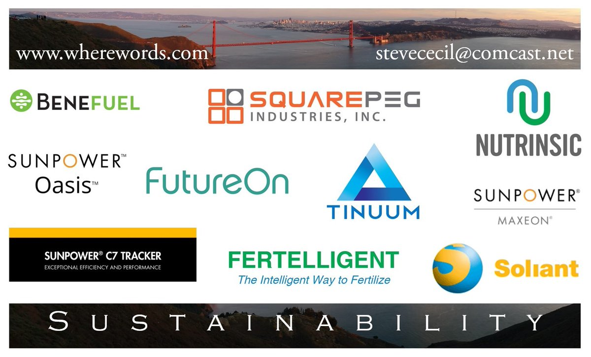 Attainable naming for sustainable branding. CEOs & CMOs in cleantech & greentech rely on WhereWords for product names & corporate identities. #naming #branding #trademarks #sowenamedit Benefuel @SunPower  Maxeon @Squarepeg @FutureOnHQ Tinuum Nutrinsic @FERTELLIGENT @EnergySoliant