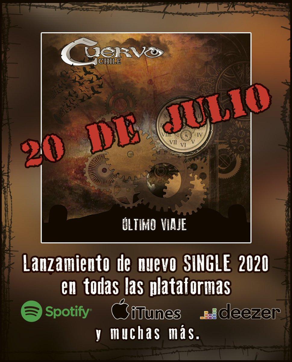 Amig@s, ya tenemos fecha!!! Este 20 de Julio será el lanzamiento de nuestro primer single 2020...  Se vendrá con varias sorpresas... Estén atentos!!! Pronto más info!@powermetalcl @Chile_metalband @AllMetalWorld @btsproducciones @chargola @futurofm @chileanmetalpic.twitter.com/dygIlw7qT5