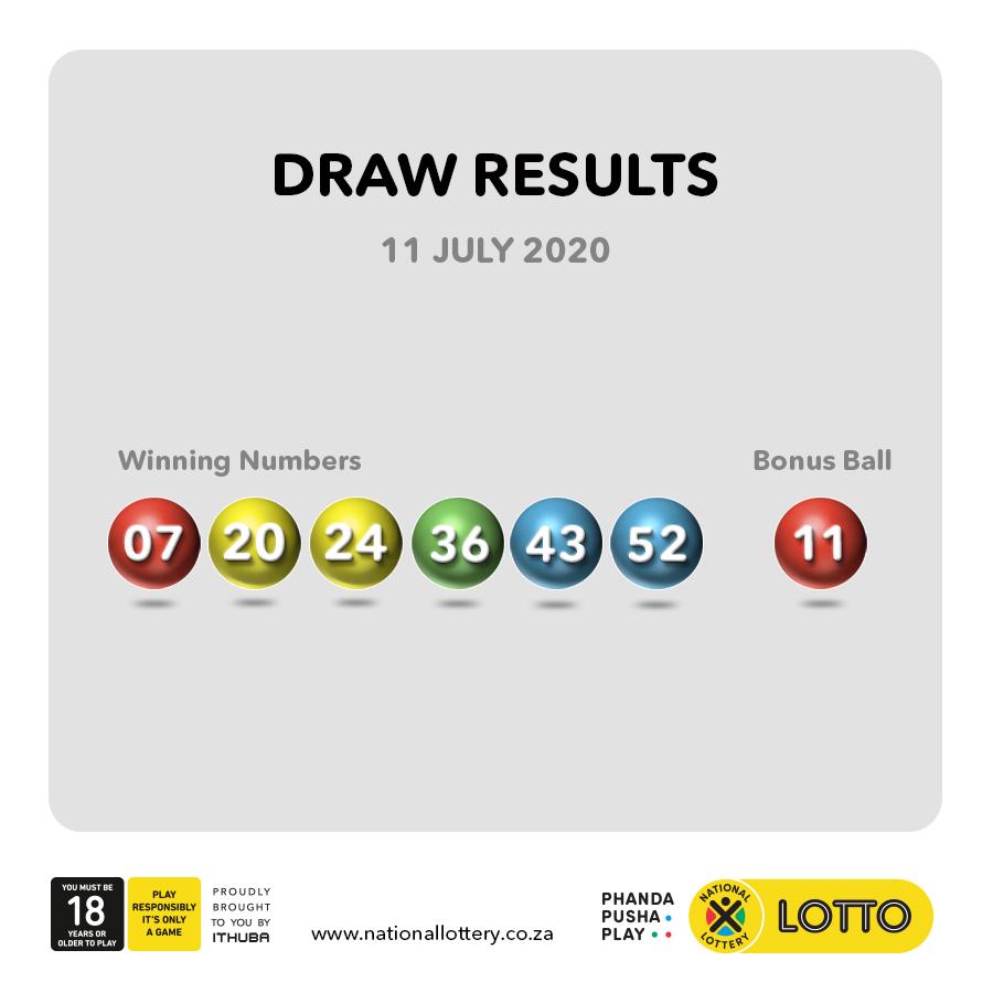 #DrawResults for 11/07/20 are: #LOTTO: 07, 20, 24, 36, 43, 52 #B: 11 #LOTTOPLUS1: 01, 21, 25, 29, 33, 46 #B: 23 #LOTTOPLUS2: 14, 30, 36, 39, 43, 44 #B: 37