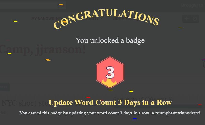 #amwriting #NaNoWriMo #CampNaNoWriMo #success #wordcountpic.twitter.com/KyMK8NZIvk