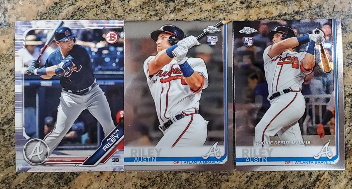 2019 Topps Chrome Update & Bowman Austin Riley RC 3 card lot $5 PWE #Braves @Hobby_Connect @HobbyConnector @mlbhobbyconnect https://t.co/M2nCFSGvYc