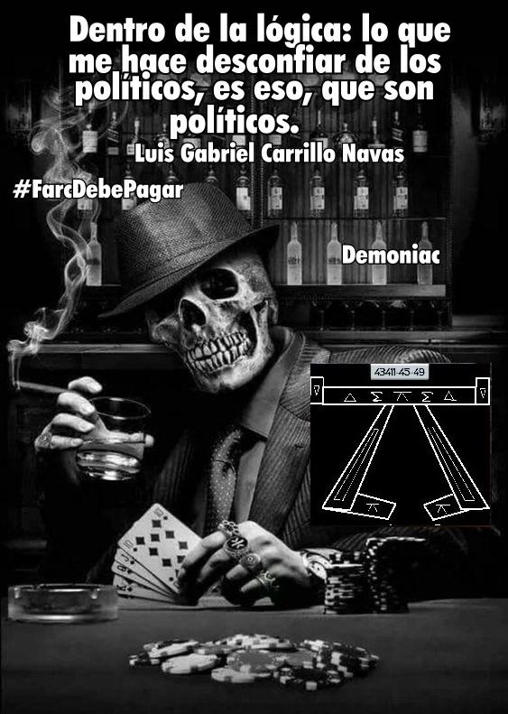 """@DELAESPRIELLAE @Josemcampoc @lorenzmurcia @CorpoRosaBlanca @VickyDavilaH @CGurisattiNTN24 #MananasBLU """"Dentro de la lógica: lo que me hace desconfiar de los políticos, es eso, que son políticos"""" Luis Gabriel Carrillo Navas @Navarro59480804  @e7351a4046ab441 @angelicapeniche @DianaVazco  @mansinteo @Juanomiedo @jg_critico @jpaez19  @LuisEdu78821762 @FGilon @aneira https://t.co/yPbXn4wpQp"""
