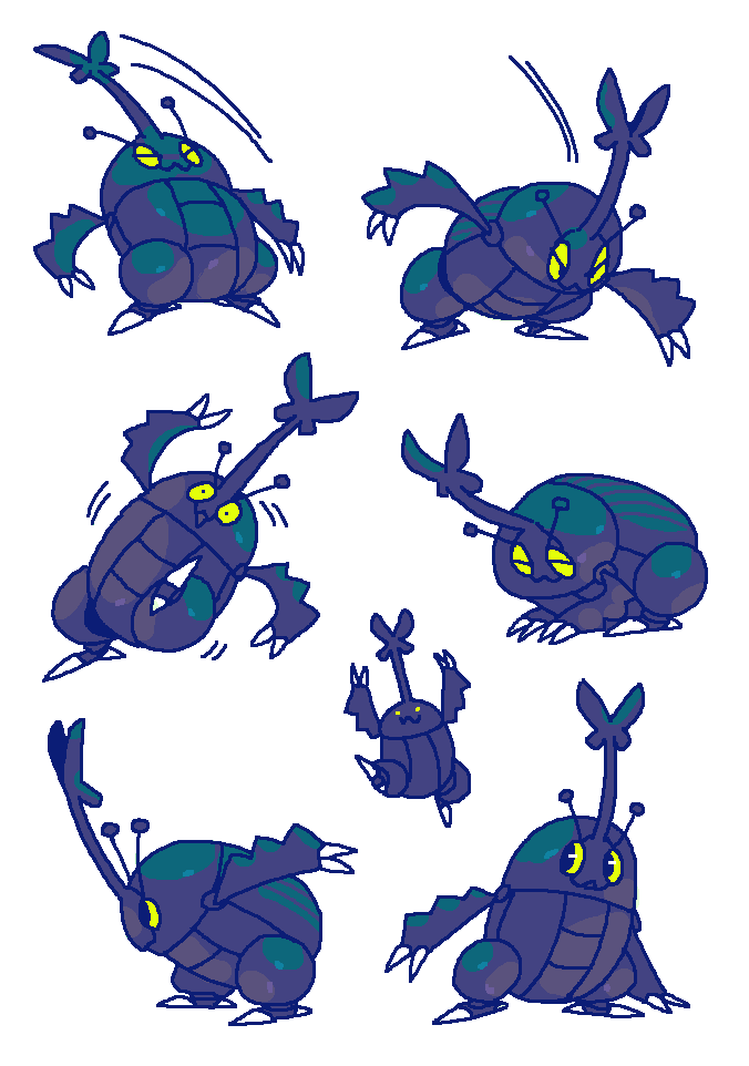 all i want is a big beetle with a human lifespan... id give him treaties #pokemon #heracross #mossworm