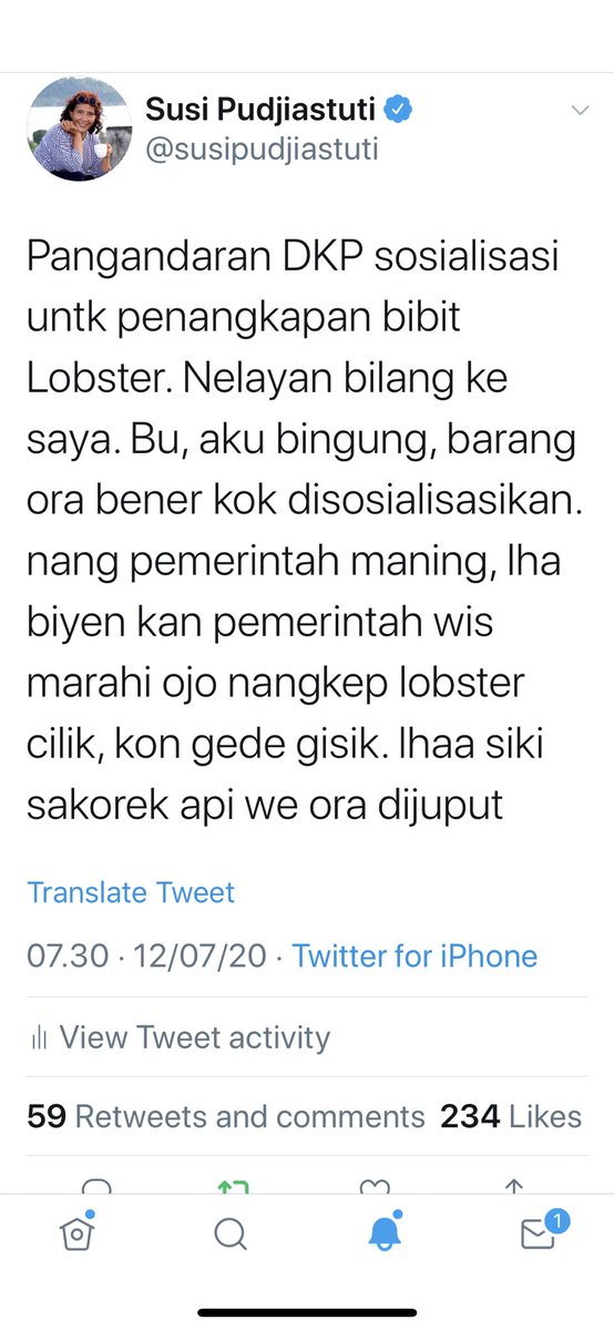 RT @susipudjiastuti: Ada yg bisa terjemahkan tweet saya dibawah ??? Akan saya retweet 🙏🙏🙏🙏 https://t.co/ou1GL31MW9
