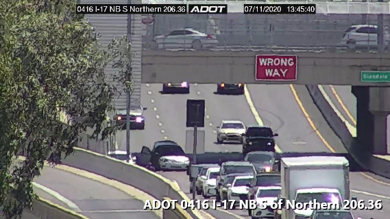 I-17 NB at Glendale: A crash is blocking the right lane. #phxtraffic