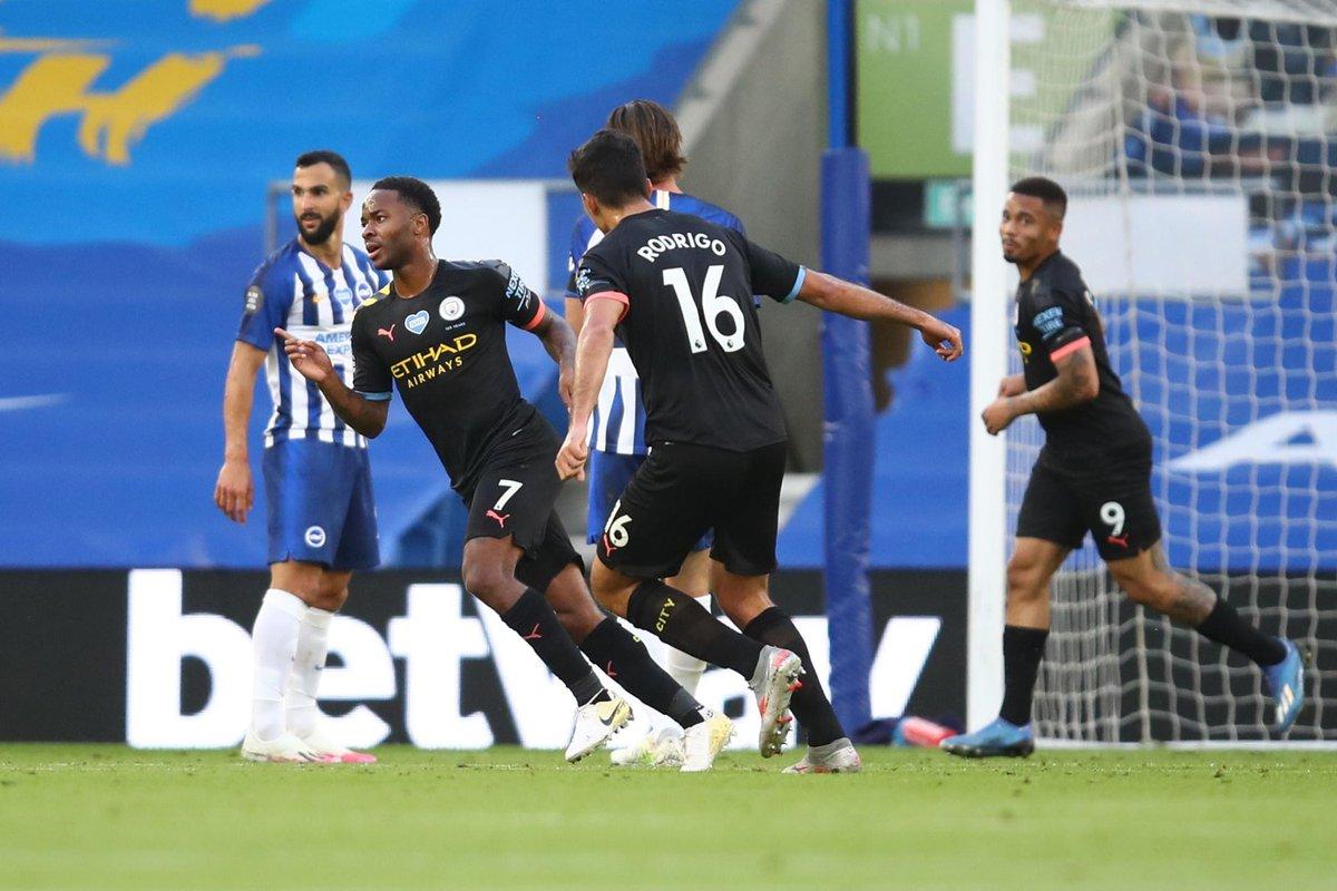 Xem lại bóng đá Brighton vs Man City, Ngoại hạng Anh – 12/07/2020