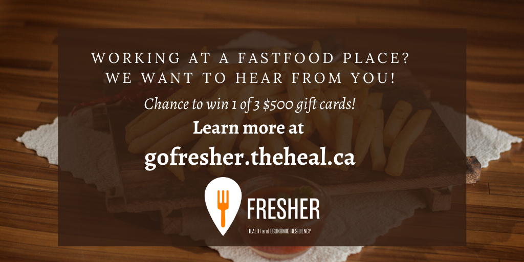 Currently working at a fast-food place in Ontario?   Chance to win 1 of 3 $500 giftcards by completing our survey at   Visit  for more information  #localfood #loveONTfood #onetable #SaveHospitalityCA #COVID19Ontario