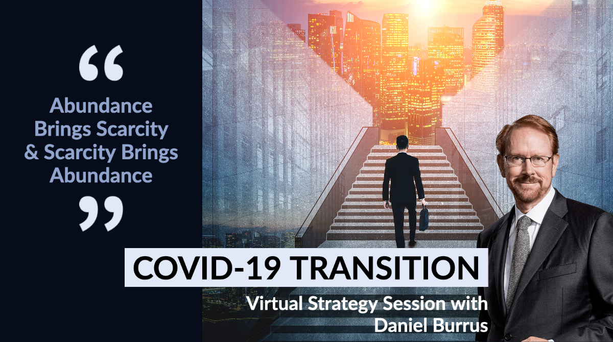 Join Daniel Burrus for an open #webinar on Wednesday at 1pm ET. The topic: #COVID-19 Transition: Abundance Brings Scarcity & Scarcity Brings #Abundance  Register at: https://t.co/LBgqHwx7LH  #innovation #leadership #postpandemic #future #2020strategies https://t.co/5UzzZMlGoU
