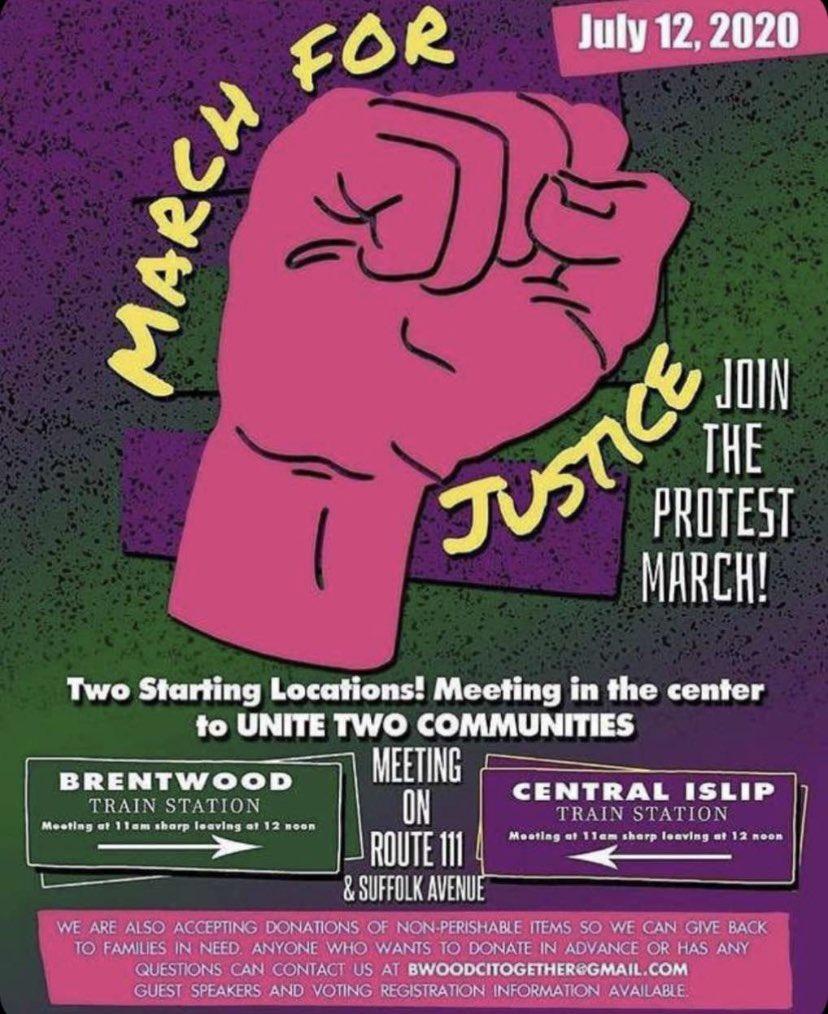 #BlackLivesMatter retweet!! protest in bwood/central islip.