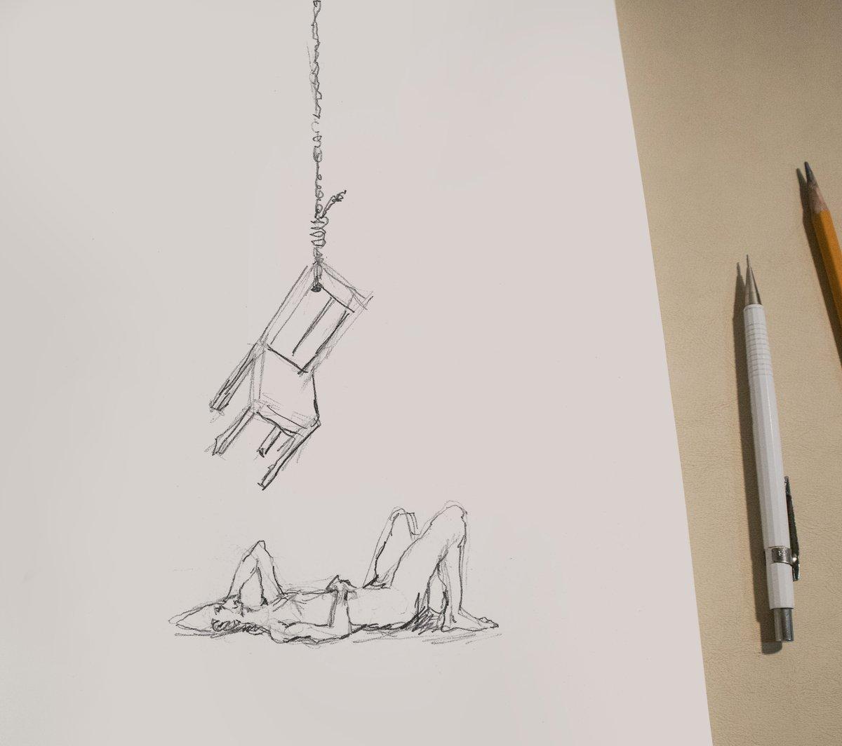 homem matando uma ideia de morrer  Há exatamente um ano eu vivia a noite mais tenebrosa da minha vida até então. Foi quando rabisquei esse pequeno desenho. Ele resolveu algo dentro de mim e, mais uma vez, a arte me salvou. https://t.co/0eSJp5Zwav