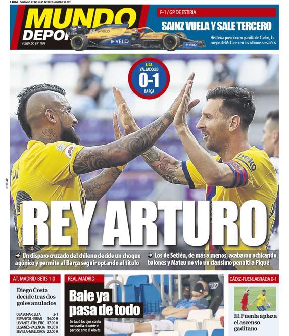 Rey Arturo La portada de este domingo #portada #deporte mundodeportivo.com/elotromundo/ac…