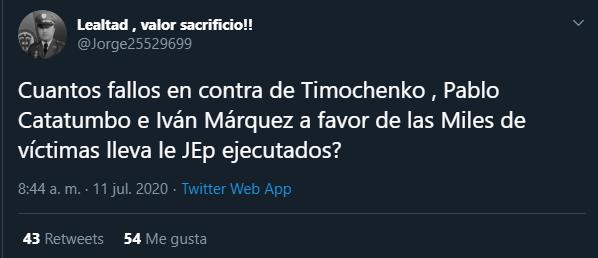 #MananasBLU https://t.co/Cedc11CfGh Aquí le hablan a la la Jep @JEP_Colombia y la comisión de la verdad @ComisionVerdadC @PGN_COL @FiscaliaCol y a la Corte Penal Internacional por eso hay que acabar a la Jep @comedilbertor @fjmorenop @AdelitaObando @Drmaopal  @Armando2011ok2 https://t.co/ahdpKXVh6G