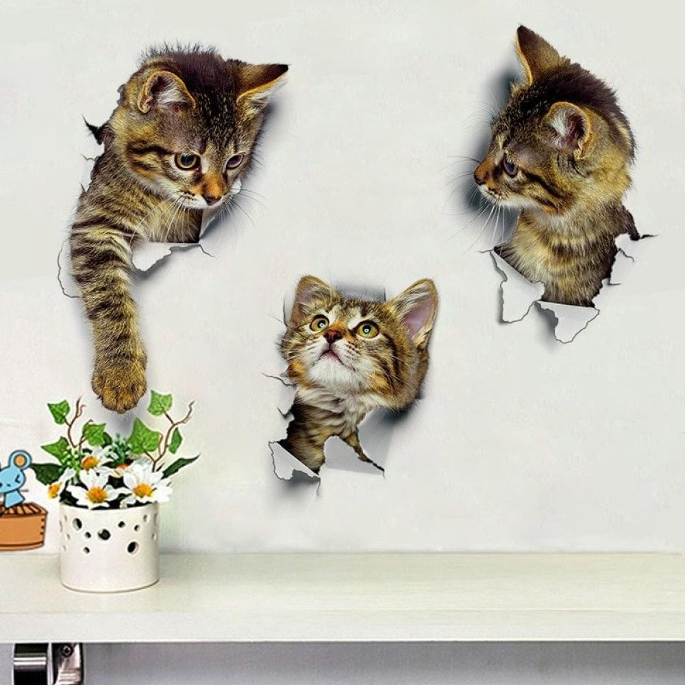 #happy #alternative Cute 3D Kitten Wall Sticker pic.twitter.com/WutyxeKbe4