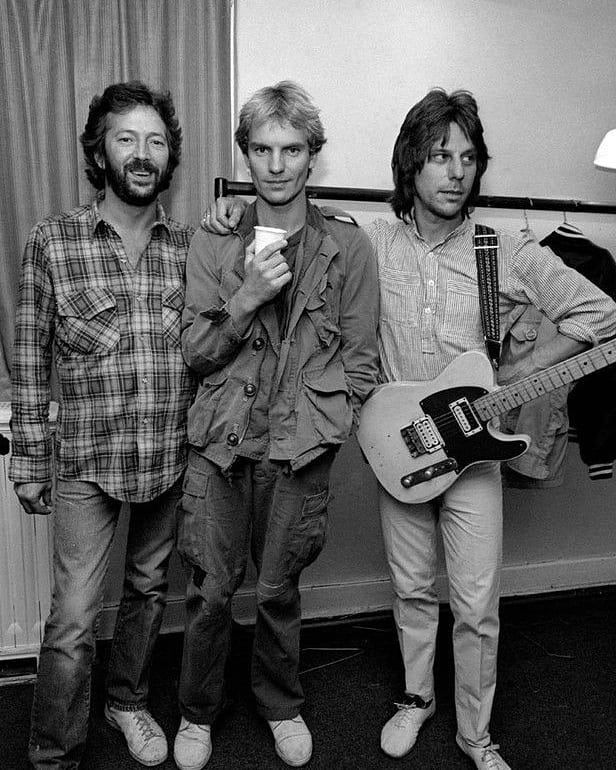 RT @TimeinMusic: Eric Clapton with Sting and Jeff Beck, UK 1981. https://t.co/IzvGyYY6be
