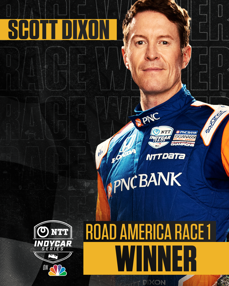 3️⃣ FOR 3️⃣! @scottdixon9 is the first driver to win the first three races of an #INDYCAR season since Sebastien Bourdais in 06.